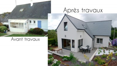 Extensions et r novations a3e architecte 2 coat guigour for Extension maison en dur