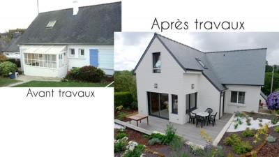 Extensions et r novations a3e architecte 2 coat guigour for Extension maison avant apres